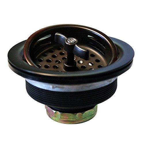 Brass Waste Strainer - Westbrass Wing Nut Style Large Kitchen Sink Basket Strainer, Oil Rubbed Bronze, D213-12