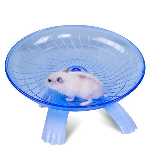 18cm Hamster Mouse Running Disc Flying Saucer Exercise Wheel Samll Animals Guinea Pig Cage Accessories Blue