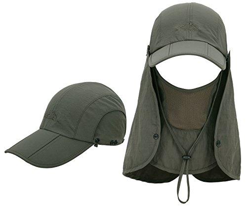 EPYA Sun Hat Outdoors Quick Dry UV Protection Safari Hat w/Flap Neck,Army Green by EPYA (Image #1)