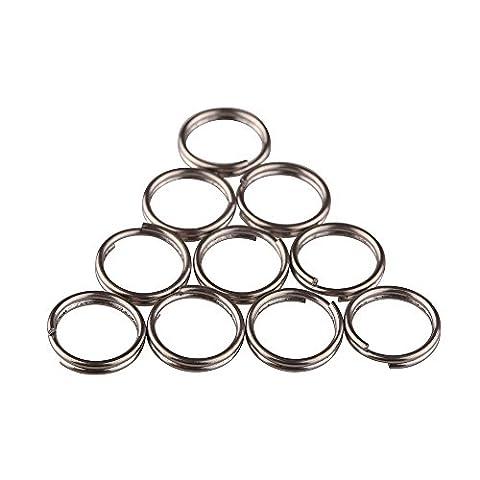TI-EDC Split Rings Titanium Small Key Rings Pack of 10 (12mm) - Ti Alloy