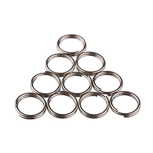 TI-EDC Split Rings Titanium Small Key Rings Pack of 10 (12mm) by TI-EDC