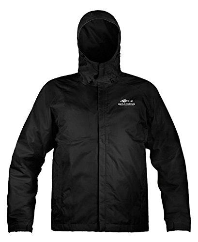 Grunden's Men's Gage Weather Watch Jacket, Black, Large