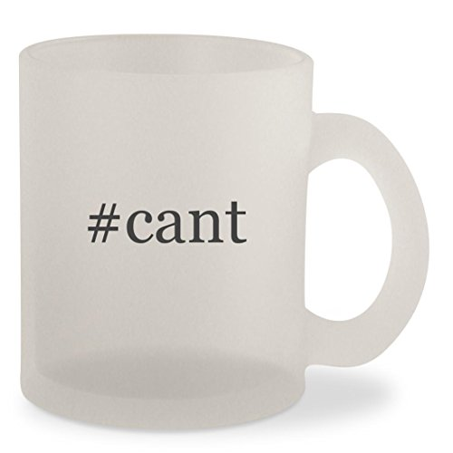 #cant - Hashtag Frosted 10oz Glass Coffee Cup Mug (White Man Jump Cant Blu Ray)