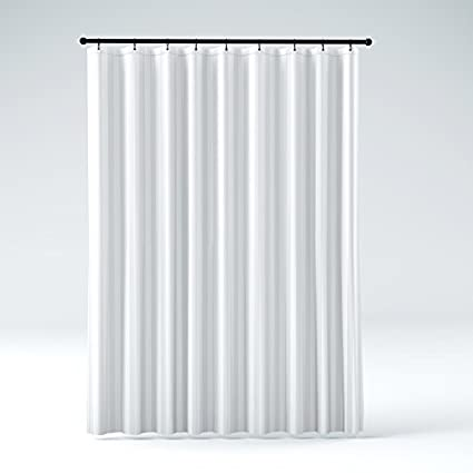 STALL Size THE SHOWER CURTAIN LINER Hotel Quality Mildew Resistant Washable Fabric Water Repellent