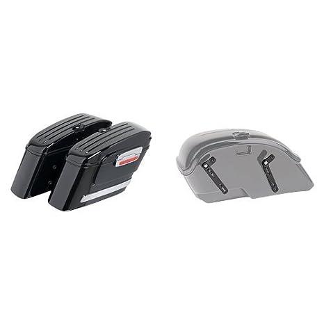 Customaccess ARS005N Juego Alforjas Rígidas Modelo American (Derecho y Izquierdo) con Soportes SV0026N para