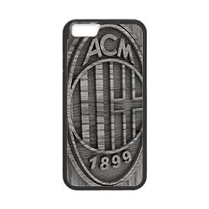 FC AC Milan Football Club Logo For iPhone 6 Plus 5.5 Inch Black Custom Cell Phone Case Cover 99II935045