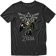 Nintendo Camiseta de videojuegos para hombre – Mario, Luigi, Zelda, Kirby y Donkey Kong Vintage Tee