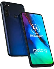 "Moto G Pro with Stylus (128GB, 4GB) 6.4"" HD+, NFC, Snapdragon 665, 4000 mAh Battery, Dual SIM GSM Unlocked (Telus, Fido, Rogers) Global 4G LTE International Model XT2043-7 (Mystic Indigo)"