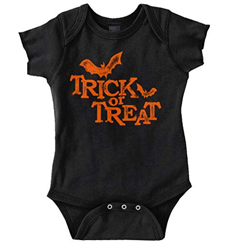 Brisco Brands Trick Or Treat Funny Bats Halloween Scary Romper Bodysuit