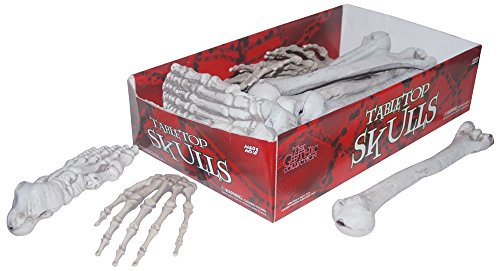 HUGE Deluxe 24 Piece Box of Large Full Size Skeleton Scatter Graveyard Cemetery Bones Halloween Decoration