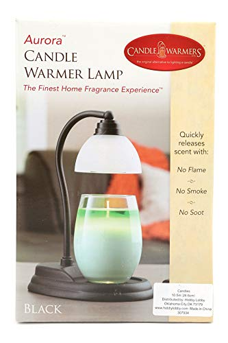 Candle Warmers Aurora Lamp, Black, 10-1/2 x 5 Inches by Candle Warmers