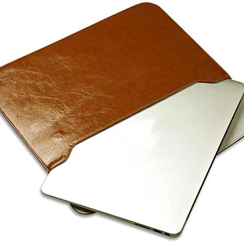 YiJee Fundas para Portatil PU Cuero de Impermeable Funda Blanda Bolso Sleeve para Ordenador Portátil Macbook Pro Air de 11.6-15 Pulgadas 15 Inch Amarillo