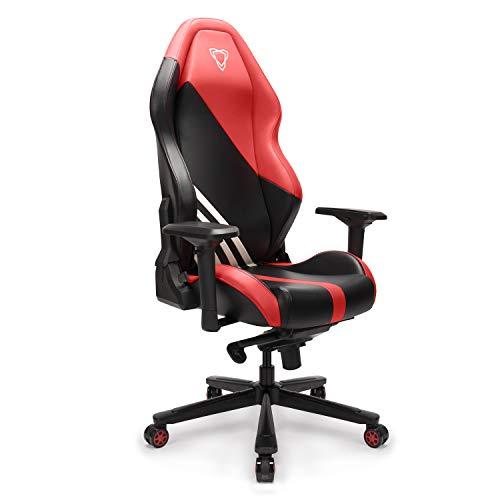 Furgle Office Gaming Chair Silla de Carreras con Respaldo Alto y reposabrazos Ajustables 4D, Piel sintetica, Silla de Videojuegos giratoria con Modo balancin (A000023-BRD@@)