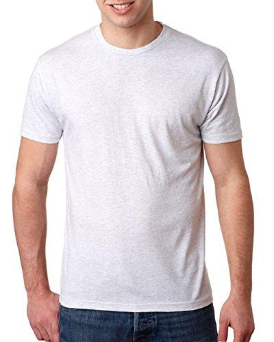 Next Level 6010 Men's Tri-Blend Crew Tee - Large - Heather - Chance T-shirt White