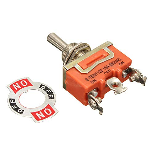3-Pin 15A/250V Metal Toggle Rocker Switch ON-ON/ON-OFF-ON - Tools & Home Improvement Switches & Sockets - (#2) - 1 xToggle Rocker Switch
