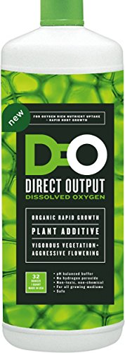 Dissolved Oxygen for Hydroponics and Soil Gardens, Natural Growth Stimulator for Healthy Roots, One Step Rooting Nutrients Solution for Your Hydro Farm, Use for Clipping Starter Clone, Cloner Supplies