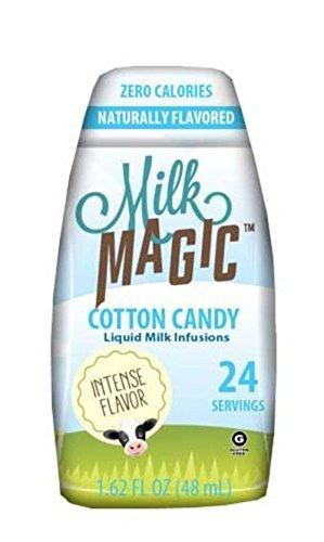 Milk Magic, Liquid Milk Enhancers, 24 Servings, 1.62oz Bottle (Pack of 3) (Choose Flavors) (Cotton Candy)