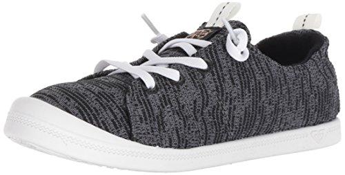 Roxy Women's Bayshore Sport Slip on Shoe Fashion Sneaker, Black, 8.5 M US by Roxy