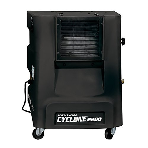 Portacool PACCYC031A1 Cyclone 2200 Portable Evaporative Cooling Unit with 500 sq. ft. Cooling Capacity, Black