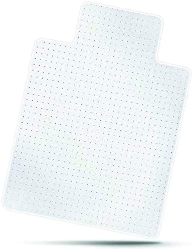 Mastermat Office Chair Mats for Carpeted Floors, Studded Desk Floor Mat, Clear Heavy Duty for Low and Medium Pile, Beveled Edge with Lip, Large 36 X 48 Thick 5 32 0.145cm Shipped Flat 2 Pack