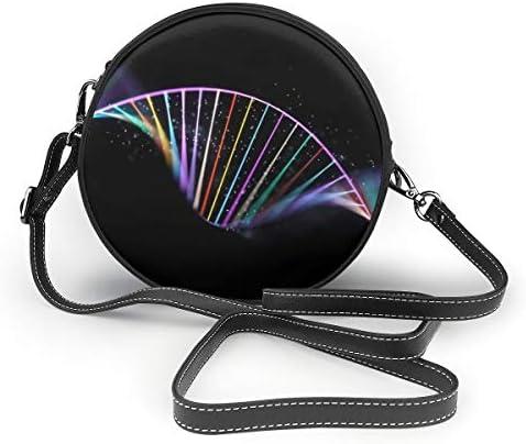 レディース 斜めがけバッグ ザーショルダーバッグ 肩掛けバッグ DNAのヘリックス トートバッグ 丸形 ミニバッグ 財布 デート 面白い 旅行用