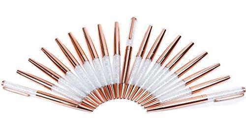 Rose Gold Pen 11 Pieces Diamond Crystal Ballpoint Pens(11Pcs Diamond Crystal Ballpoint Pens)