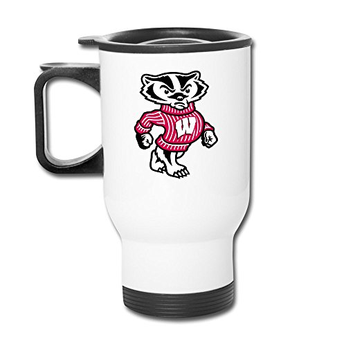 Cups Insulation White Wisconsin Badgers University Of Wisconsin Travel Coffee Mugs Insulated Coffee Cup (Wisconsin Insulated Mug compare prices)