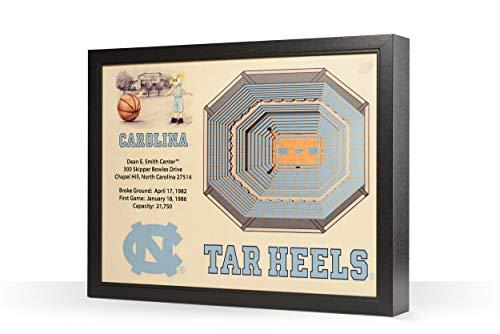 - NCAA North Carolina Tar Heels 25-Layer Stadiumviews 3D Wall Art