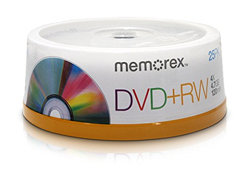 DVD RW 4.7GB 25 Pack Spindle