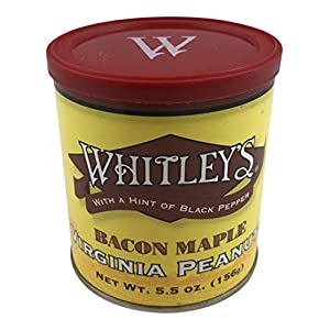 Whitley's Bacon Maple Virginia Peanuts 5.5 Oz.