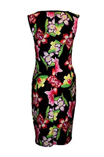 Insanity Damen Schlauch Kleid Schwarz Black and Multicolour X-Large