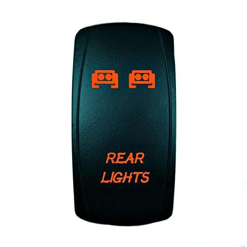 STV Motorsports Laser Orange Rocker Switch REAR LIGHTS 20A 12V On/off LED Lights