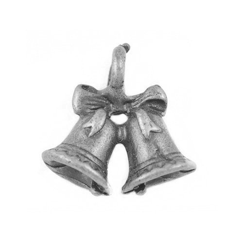 Paquet 5 x Argent Antique Tibétain 14mm Breloques Pendentif (Cloche) - (ZX09835) - Charming Beads