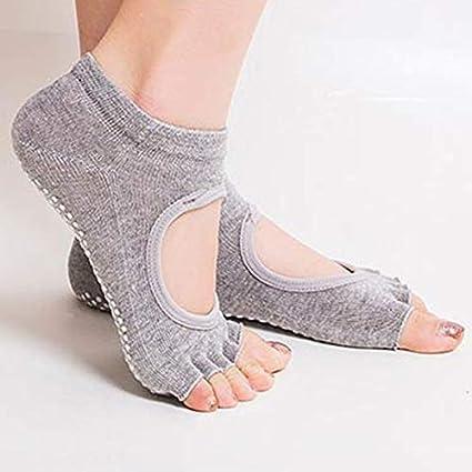 Amazon.com: Calcetines a la moda para mujer con medio dedo y ...