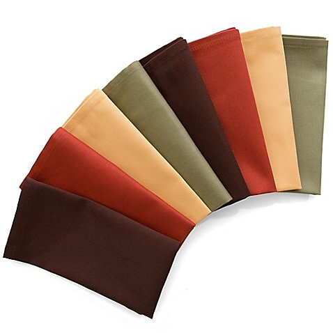 8-Pack Harvest Napkins in Assorted Colors (Set of 3)