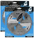 "Shark Pro-series (2 Pack) 8-1/4 inch 24 Teeth Carbide 5/8"" arbor hole DKO Thin Kerf ATB Miter Saw Blade ""Ship FREE buy $25+"""