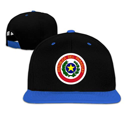 Kids Coat of Arms of Paraguay Outdoor Hip Hop Ball Cotton Hat Adjustable Blue