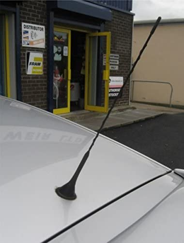 Sticker Included Black XtremeAuto/Â/® MAST.975 AM//FM Aerial Mast Antenna Roof Screw