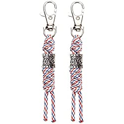 XUANTAI Zipper Pull Replacement with Love Beads for Handbag Backpacks Luggage Suitcase (2 Pack Diamond Color)