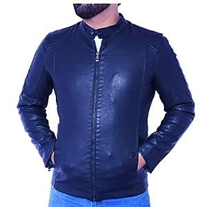 Style Studio Men's Leather Imported Retail Jacket (Black, Large)