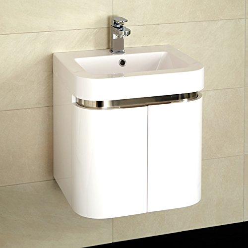 500 Vanity Unit with Basin for Bathroom Ensuite Cloakroom Wall Hung ...