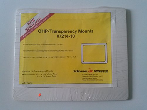 Schwan Stabillo 7214-10 OHP-Transparency Mounts 10 Mounts