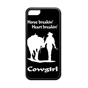 Canting_Good Racing Cowgirl Custom Case Shell Skins for iPhone 5C TPU (Laser Technology)