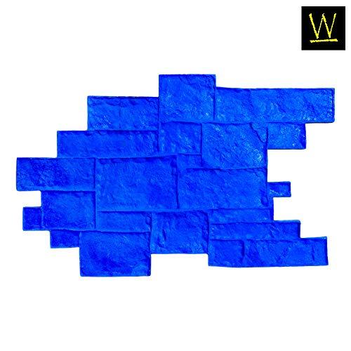 Walttools Medievil Cobble Single Decorative Concrete Stamp Mat (Rigid/Blue)