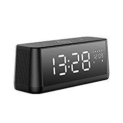 Bluetooth Speaker, MIFA True Wireless Stereo Soundbox Digital Alarm Clock, 30W Superior Sound & Bold Bass, Built-in Microphone, Micro-SD Card Supported, Touch Control, LED Display for Time Date