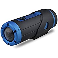 Yuntab Warrior G1S Sports Action camera H.265 Starlight Sensor Night Version 3400mAh G- Sensor 1080P 2.13M Waterproof Camcorder 12-month Standby Wifi 32GB Wireless Remote Control (G1S-Blue)