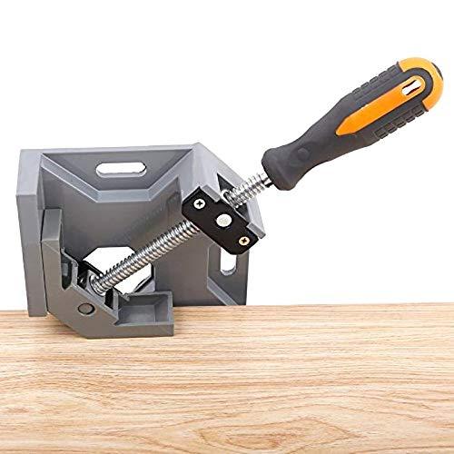 COMEYOU Abrazadera de /ángulo Herramienta para carpinter/ía de Marco de carpinter/ía Aluminio Mango /único Abrazadera de /ángulo Recto de 90 Grados