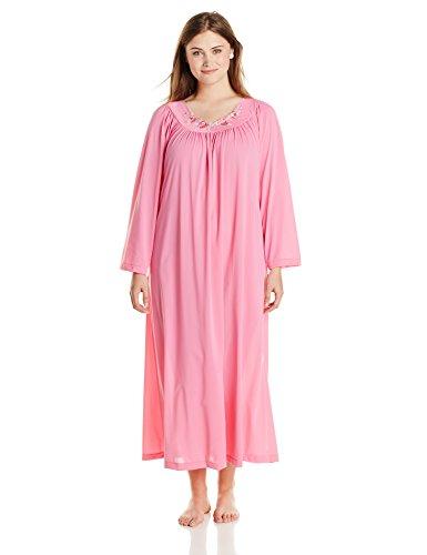 Shadowline Women's Plus-Size Petals 53 Inch Long Sleeve L...