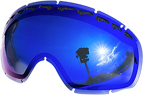 Replacement Lenses For Oakley Crowbar Snow Goggle Blue Mirror