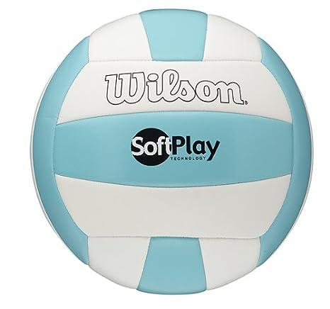 WILSON Soft Play - Pelota de volley playa para hombre, tamaño 5, color blanco/azul tamaño 5 WTH3501XBLU/WHI deportes y aire libre; volleyball; volley playa; accesorios volleyball; balón volleyball